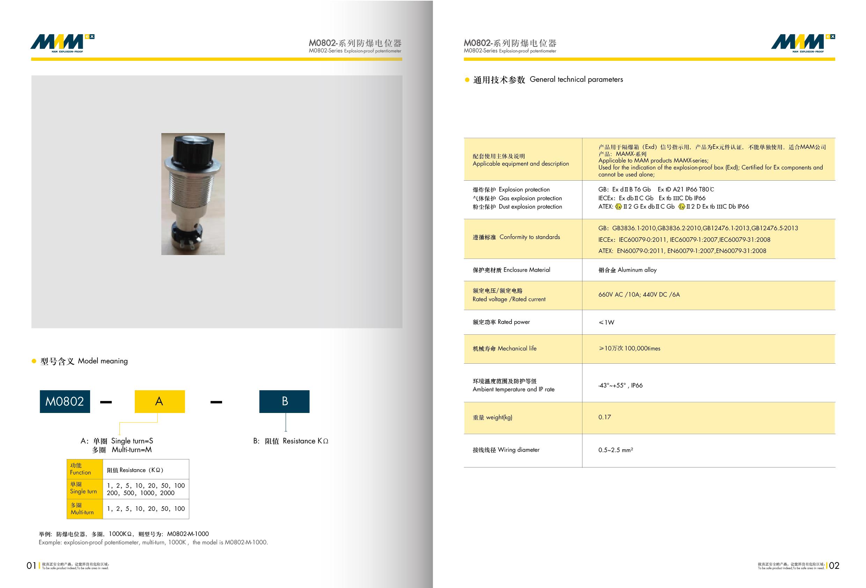 防爆电位器MEC-0802