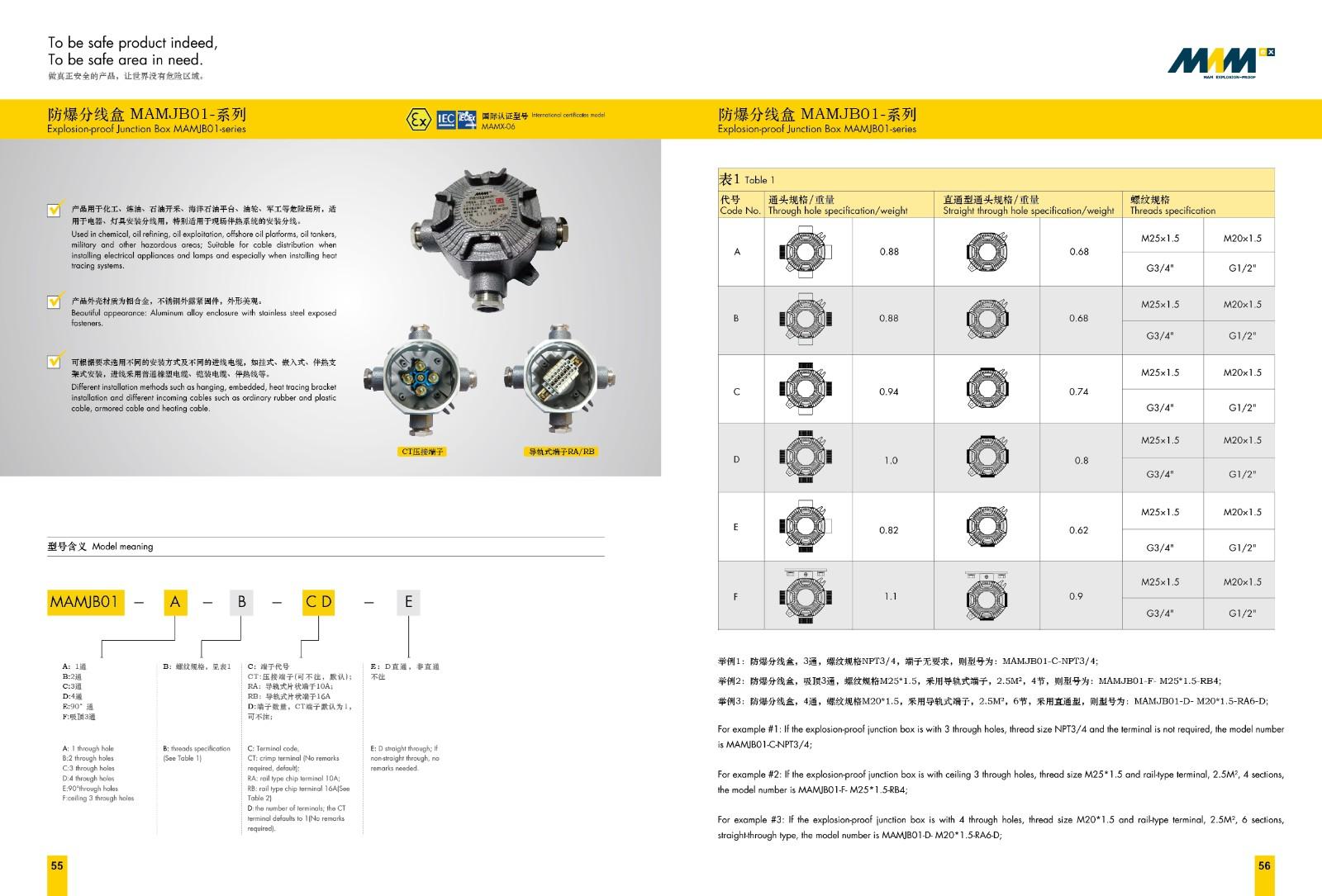 防爆分线盒MAMX-06-系列